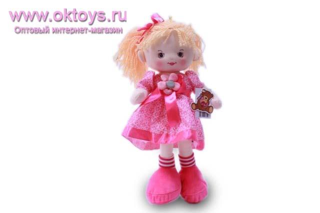 Кукла в розовом платье муз.-